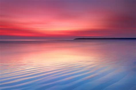 wallpaper sunset dusk seascape calm chrome os stock
