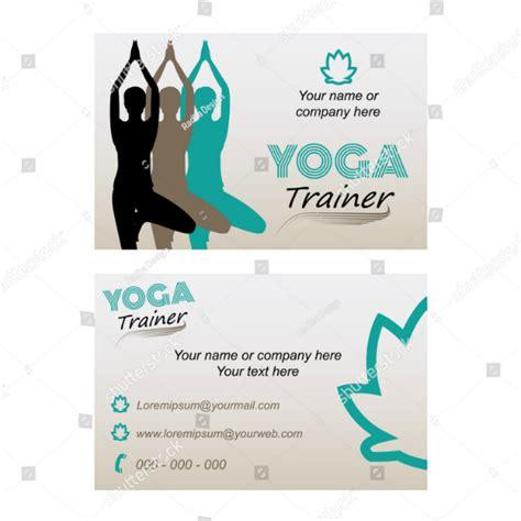 yoga instructor business card templates ai psd