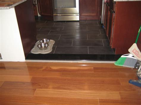 suggestions for flooring transition between open rooms