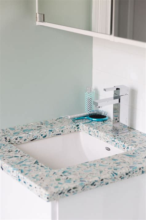 Recycled Glass Bathroom Countertops by Vetrazzo Giveaway House Of Turquoise