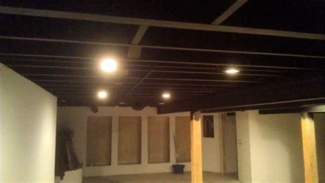 spray painting basement ceiling joists like success