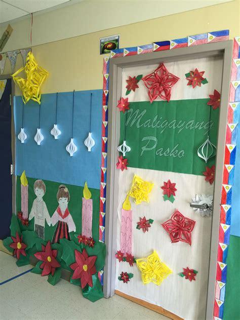 filipino christmas decorations school hallway decorating