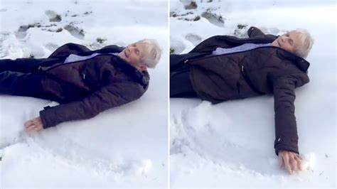 Video Of Grandmother Making Snow Angel Goes Viral