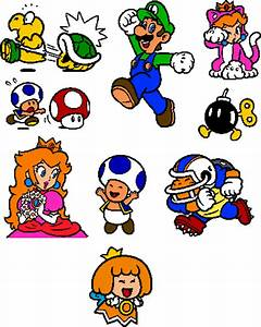 Coloured SM3DW World 5 Stamps by geno2925 on DeviantArt