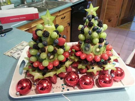 fruit salad christmas trees backing and cooking pinterest