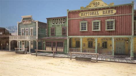 western town  model cgstudio