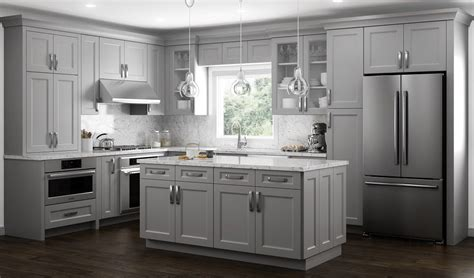 fx cabinets in city of industry european style warm gray color transitional kitchen