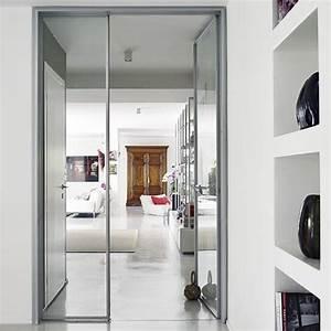 Wohnzimmertür Mit Glas : offener wohnraum mit floating regale wohnideen living ideas interiors decoration modern ~ Watch28wear.com Haus und Dekorationen