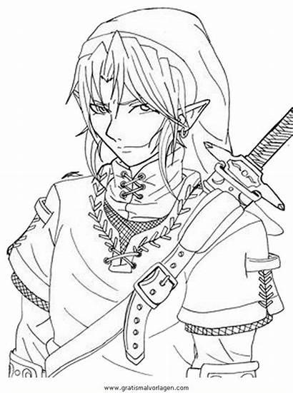 Zelda Link Ausmalen