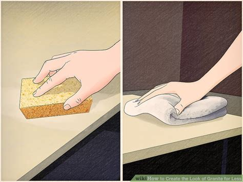 Granite For Less by 3 Ways To Create The Look Of Granite For Less Wikihow
