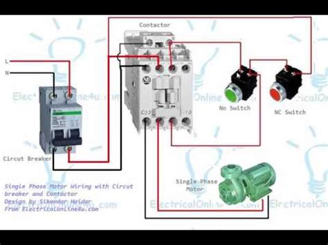 Single Phase Motor Contactor Wiring Diagram Urdu