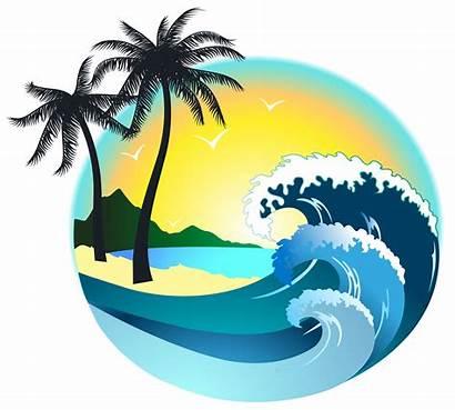 Sea Clipart Clip Island Tree Palm Transparent