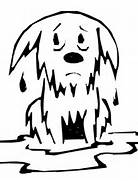 Wet Dog Coloring Page
