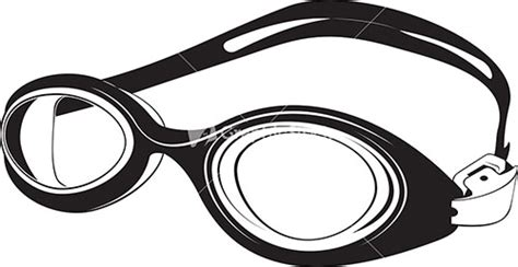swim goggles clipart black and white swimming goggles silhouette