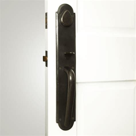 marshall solid bronze entrance set  arched lever