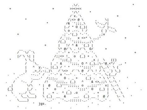 ascii christmas tree tree ascii text ascii one line ascii