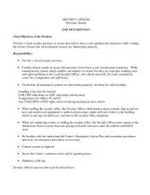 Security Resume Objective by Sle Resume For Security Officer Sle Resume