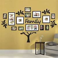 "picture frame collage ideas 19 Piece ""Family Tree"" Wall Photo Frame Set Picture ..."