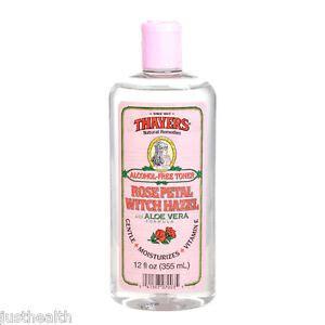 thayers alcohol free rose petal witch hazel with aloe vera 12 fluid ounce thayers petal witch hazel with aloe vera formula free toner 355ml ebay