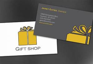 business card template for gift shop retail store order With business card shop