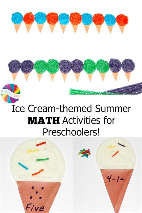 themed summer math activities for preschoolers 352 | Ice Cream Theme Summer Math Activities for Preschoolers
