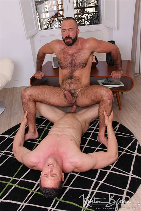 xavi garcia lay on his back spreads his legs open as ivan gregory plunges his fat cock deep