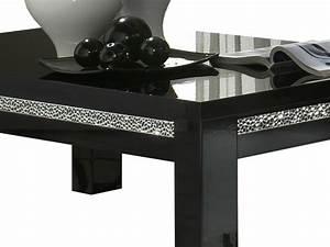 Table Basse Laque Noire