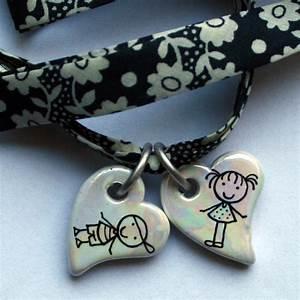 bracelet personnalise breloque coeur claudia ladriere With robe fourreau combiné avec bracelet personnalisé cordon