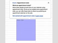 AppsCare Creating appointment slots in Google Calendar