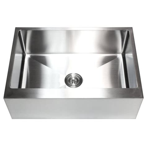farmhouse sink with garbage disposal 30 inch stainless steel flat front farm apron single bowl