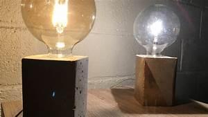 Fabriquer Une Lampe De Chevet : comment fabriquer une lampe b ton avec une brique de jus d ~ Zukunftsfamilie.com Idées de Décoration