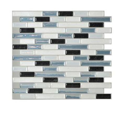 self adhesive kitchen backsplash tiles smart tiles muretto brina 9 1 in x 10 2 in self adhesive