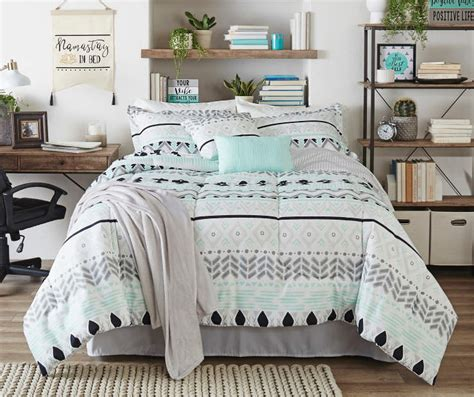 34647 mint and gray bedding living colors liah mint gray black 12 comforter