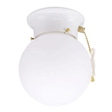 home depot ceiling lights with pull chains westinghouse 1 light ceiling fixture white interior flush