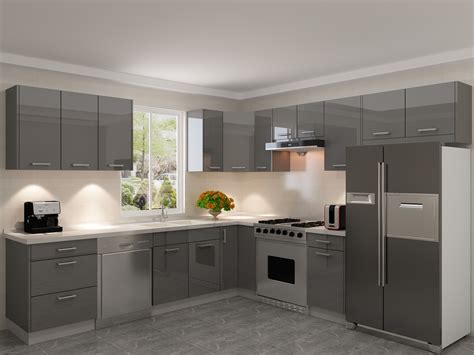 gloss grey kitchen cabinets gallery cabinet world 3846