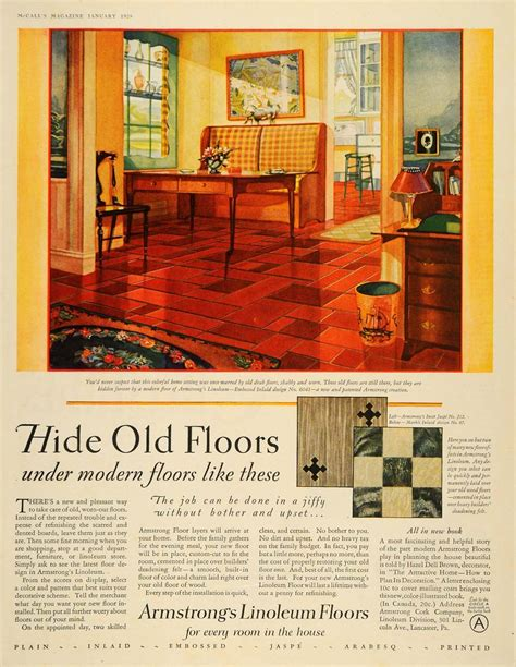 armstrong flooring linoleum 1928 ad armstrong cork linoleum floors interior design original advertising cork ads and