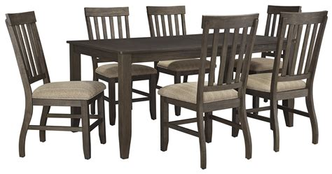 7 dining set with bench 7 rectangular dining table set by signature design