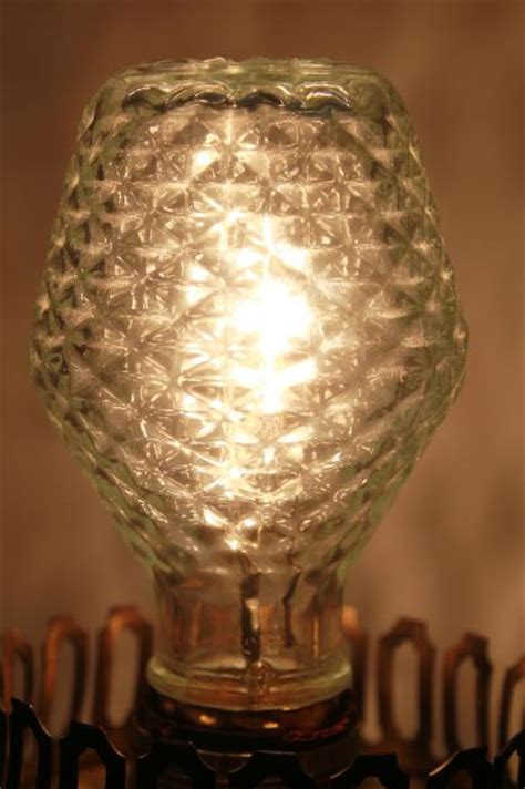 vintage sylvania novelty edison light bulb clear quilted