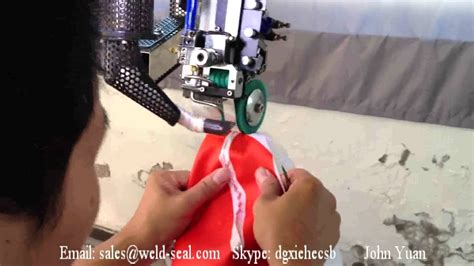 waterproof seam tape hot air seam sealing machine youtube