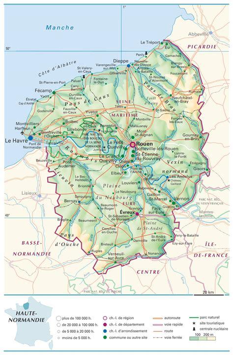 Carte Haute Normandie carte de la haute normandie plusieurs carte de la r 233 gion