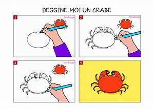 Comment Dessiner La Mer : apprendre dessiner un crabe en 3 tapes ~ Dallasstarsshop.com Idées de Décoration