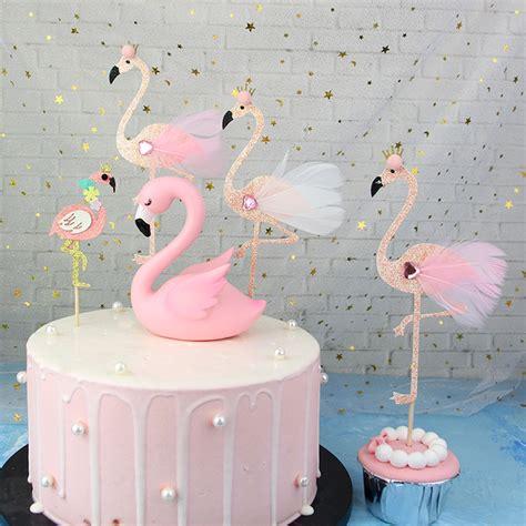 Pinkamingo Cake Topper De R For Wedding Party Supplies
