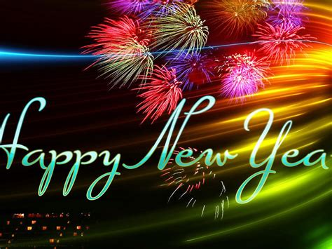 Happy New Year New Year Greetings Fireworks Image Hd