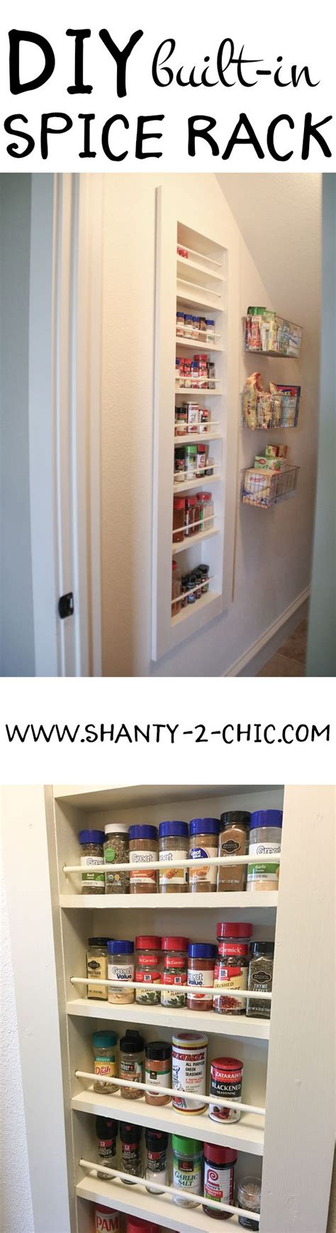 Built In Spice Rack by Diy Built In Spice Rack Free Plans And Tutorial Shanty