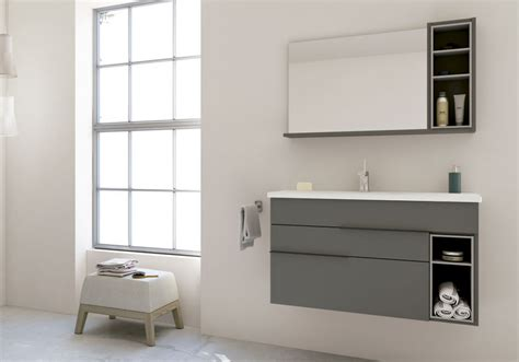 nook bathroom vanity dark grey light grey