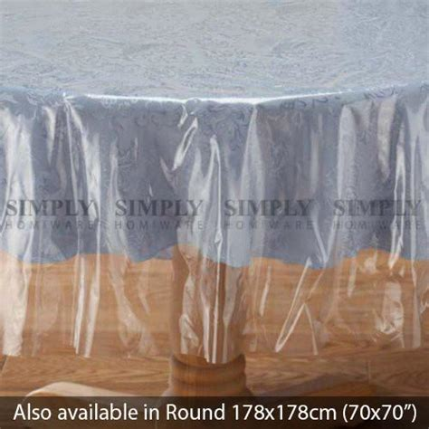 clear plastic table cloth cover pvc tablecloth