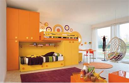 Orange Yellow Wall Colors Purple Ceiling Colorful