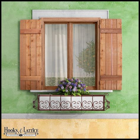 Exterior Wooden Shutters  Cedar Shutters  Hooks & Lattice