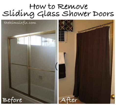 How To Replace Shower Door - removing brass sliding shower doors