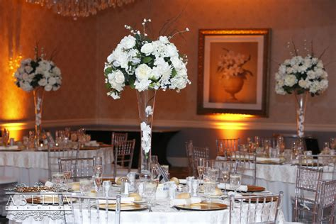 These beautiful Crystal Ballroom centerpieces are included